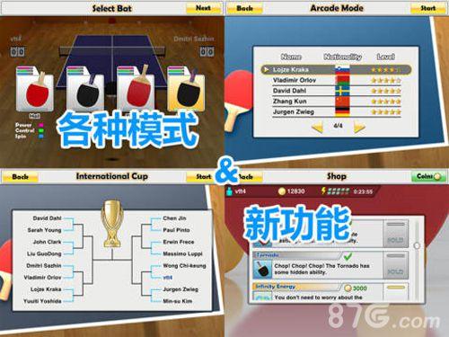 虛擬乒乓球HD截圖4