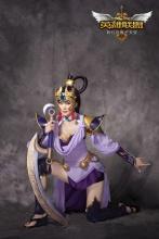英雄联盟皎月女神戴安娜嫦娥皮肤cos 长腿大眼惹人