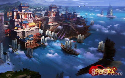 穿越吧!主公场景原画——荆州城