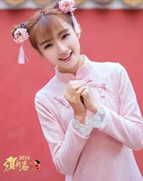 萌系美少女恭贺新春写真图集 猴年春节万事如意