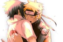 火影忍者鸣人和佐助接吻kiss图 基情满满
