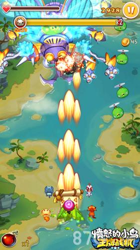 愤怒的小鸟:王牌战机游戏截图2