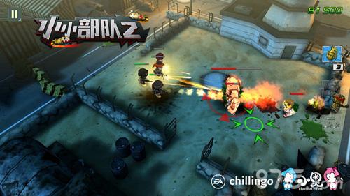 在游戏之中,我们的小兵炸坦克