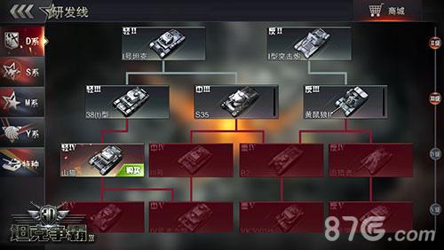 3D坦克争霸2研发线