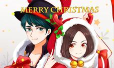 王者榮耀圣誕貂蟬呂布手繪高清壁紙 Merry Christmas