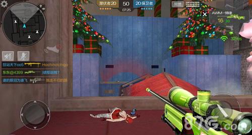 CF手游圣诞狂欢狙击怎么打