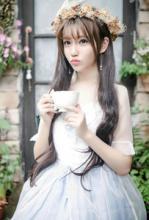 唯美可爱女生图片 美女花仙子图片