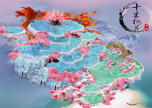 《三生三世十里桃花》手游十里桃林原画