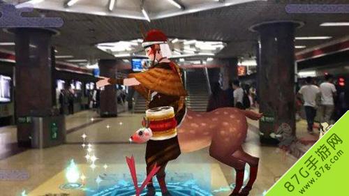 阴阳师北京地铁站国贸站化身式神长廊11