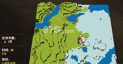 迷你世界半冰半绿地图图片