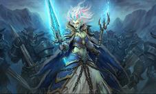 炉石传说冰封王座的骑士原画欣赏 全职业英雄卡原画