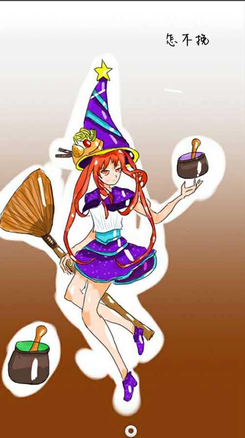 来自玩家全宇的作品,化身魔女宅急便的女巫。