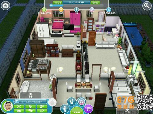 造房子设计图平面图的全部内容了,这个玩家的房间有好几套还是比较