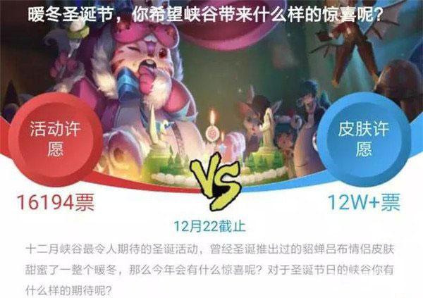 王者荣耀圣诞节投票结果2