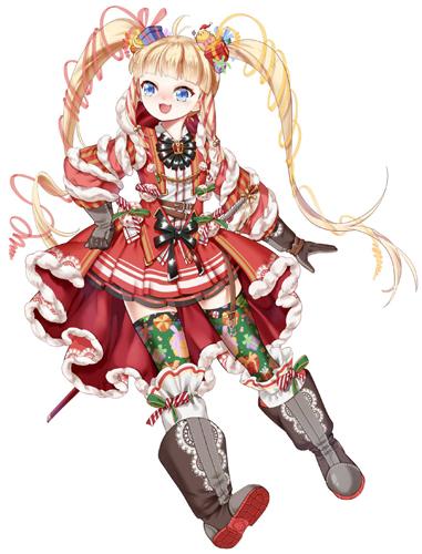 碧蓝航线女将圣诞节换装立绘 女将圣诞节皮肤图鉴