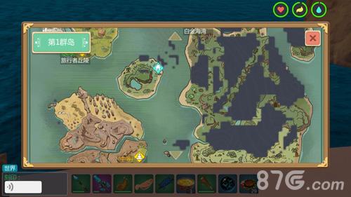 沙盒游戏_创造与魔法地图全貌 全开地图资源分布一览 - 87G手游网