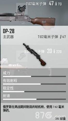 绝地求生全军出击DP28