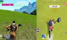 堡垒之夜手游对比网易堡垒之夜视频 iPhoneX同屏对比