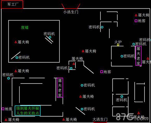 第五人格军工厂地图2