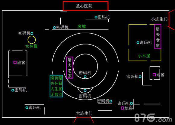 第五人格圣心医院地图2