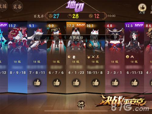 决战平安京赞誉系统登场2