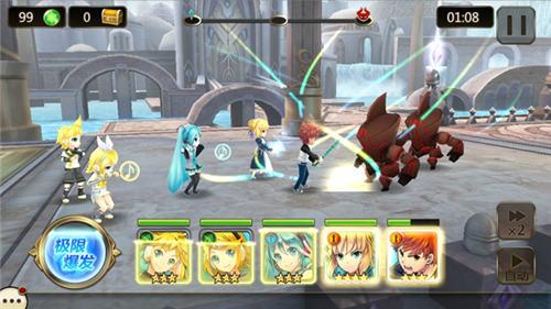 通过联动玩家可以收集各大动漫人物在游戏中集结