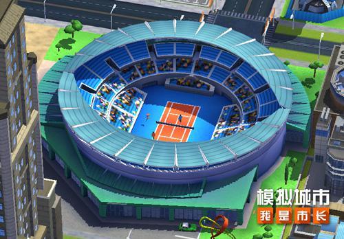在《模拟城市:我是市长》中建造超万人体育馆