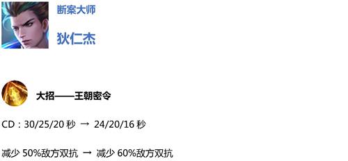 王者荣耀体验服11月8日更新公告3