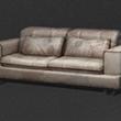 白色皮制大沙发