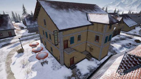绝地求生刺激战场雪地建筑大全8