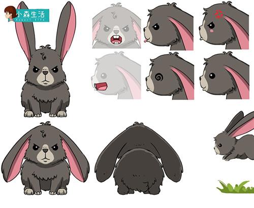 兔子设定稿