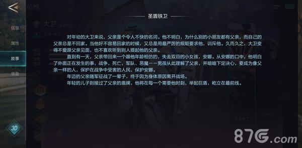 激战狂潮大卫背景故事介绍