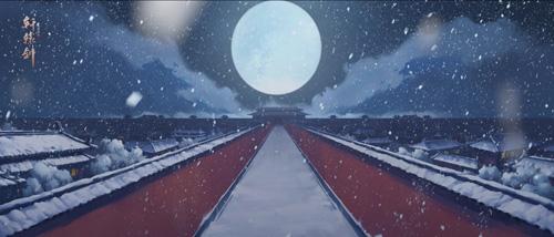 CG画面:宫内雪景