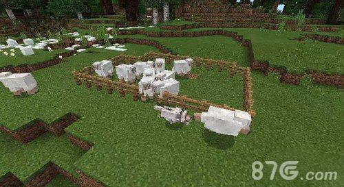 我的世界动物快速出栅栏方法
