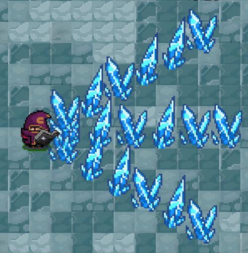 法师-寒冰穿刺:释放冰刺,伤害并冻结前方敌人
