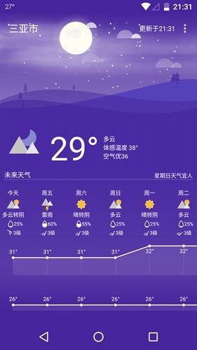 Holi天气app截图2