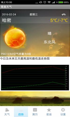 星座天氣app截圖1
