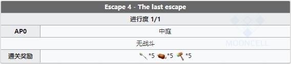 FGO第四区域Escape 4配置