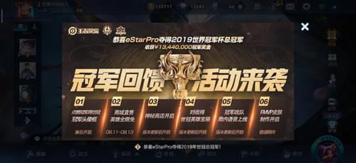 王者荣耀冠军杯eStar夺冠3