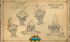 炉石传说新版本概念设定图 奥丹姆沙漠有什么
