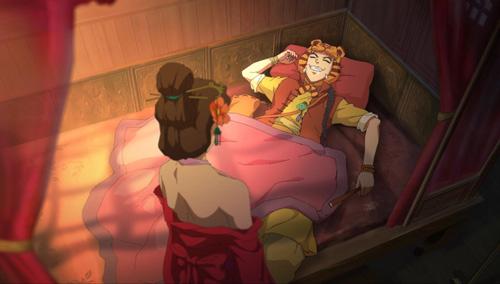 睡梦中的韦小宝
