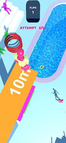 紫色跳水员1