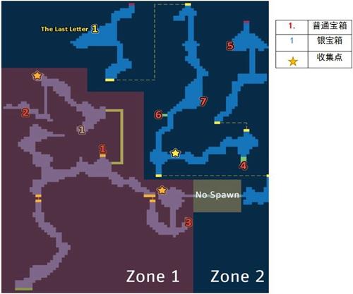 最终幻想兰泽尔特山脉上层探索地图