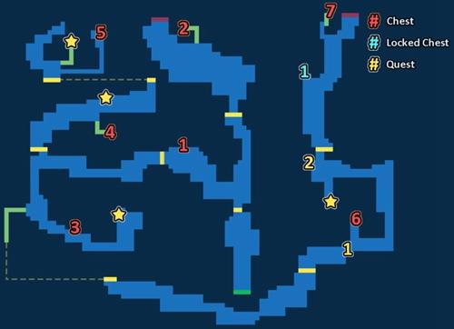 最终幻想勇气启示录蔚蓝洞窟最深处探索地图