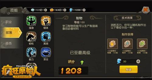 100級部落技能