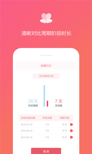 經期日記app截圖1