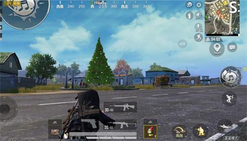 地图中惊现圣诞树