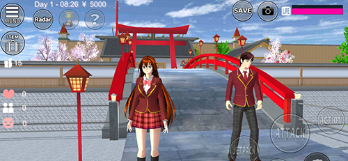 樱花校园模拟器新年版截图1