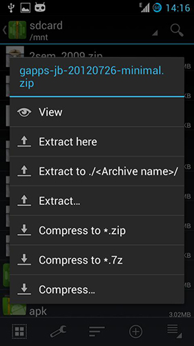 ZArchiver解压缩工具旧版本截图1