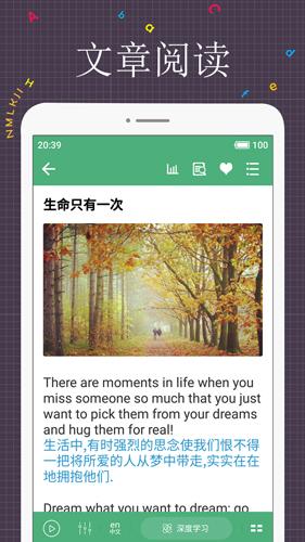 每日英語閱讀app截圖3